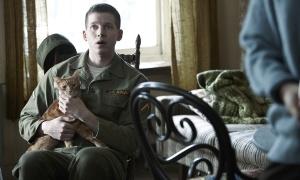 Troy asiste expectante a la discusión entre Llewyn y Jean junto al gato Ulises (Foto: Alison Rosa 2012)