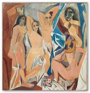 """Pablo Picasso, """"Les Demoiselles d'Avignon"""", MoMA, Nueva York (1907)"""