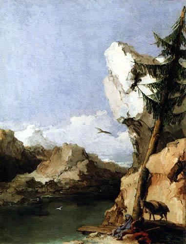 "Giambattista Tiepolo, ""Reposo en la fuga a Egipto"", ca. 1769 (Staatsgalerie, Stuttgart)."
