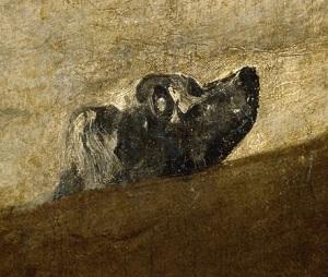 Francisco de Goya, Perro semihundido (1820-1823) / ©Museo del Prado