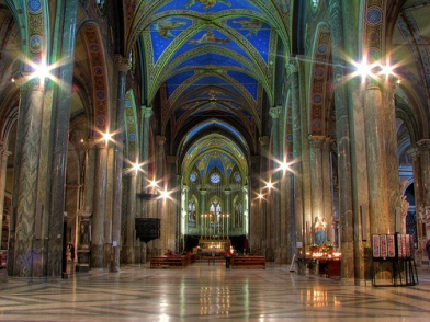 Interior de Santa Maria sopra Minerva / Foto: Luis Barrionuevo