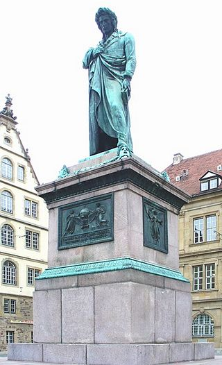 Monumento a Schiller en Stuttgart, por Bertel Thorvaldsen (1839) / Fuente: Vanderkrogt.net