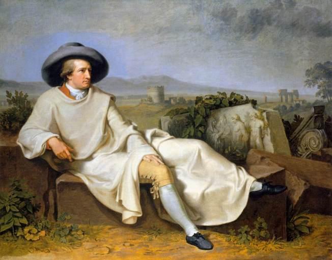 Goethe en la campiña romana, por Tischbein (1786) / Städelsches Kunstinstitut (Frankfurt)