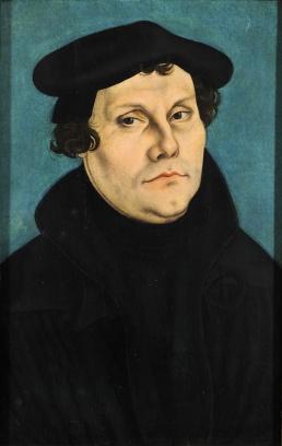 Martín Lutero, por Lucas Cranach el Viejo, 1529 / Galleria degli Uffizi (Florencia)