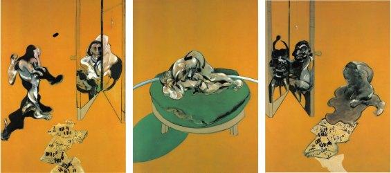 Francis Bacon, Tríptico. Estudios sobre el cuerpo humano, 1970. / Fuente: Sketching a Present