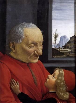 Domenico Ghirlandaio, Ayo y nieto, ca.1490, Louvre.